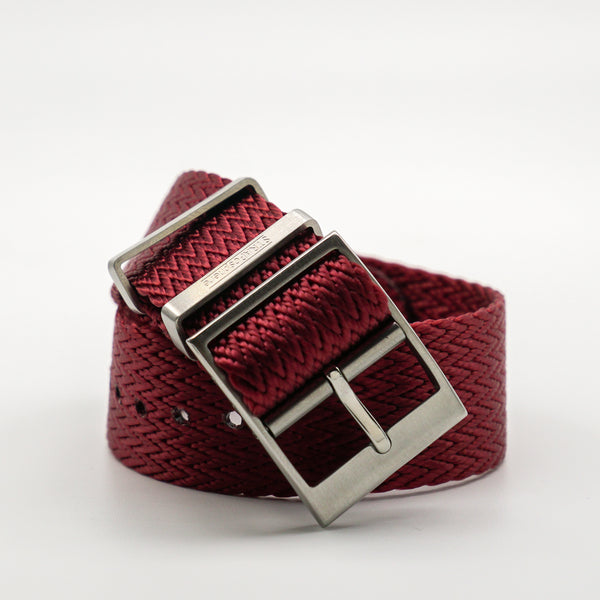 STRAPOBELT 4.0 ADJUSTABLE NATO HERRINGBONE RED by straposphere.com