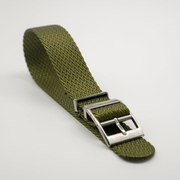 STRAPOBELT 4.0 ADJUSTABLE NATO HERRINGBONE OLIVE by Straposphere.com