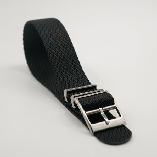 STRAPOBELT 4.0 ADJUSTABLE NATO HERRINGBONE BLACK by straposphere.com
