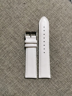 White - 22mm Italian Leather Strap