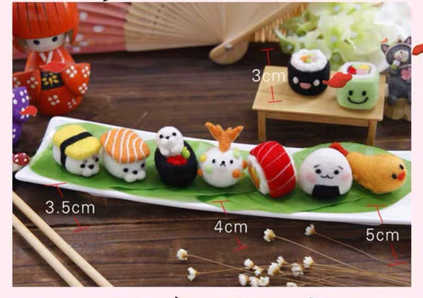 Cool Beans Boutique Needle Felting DIY Kit Sushi Bento with Gift Box and tools