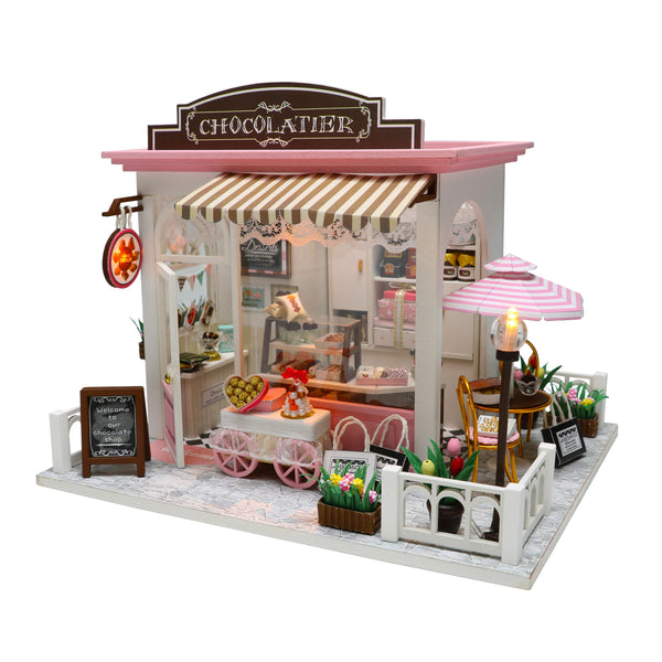 Remarkable Miniature Diy Dollhouse Kit Wooden European Chocolatier And Wiring Digital Resources Cettecompassionincorg