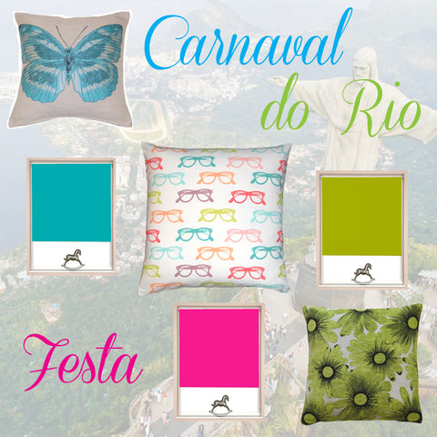 All you need for curtains carnaval do Rio themed range