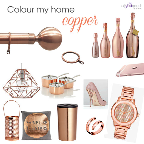 Colour my home copper