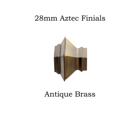 28mm Metal Aztec Finials
