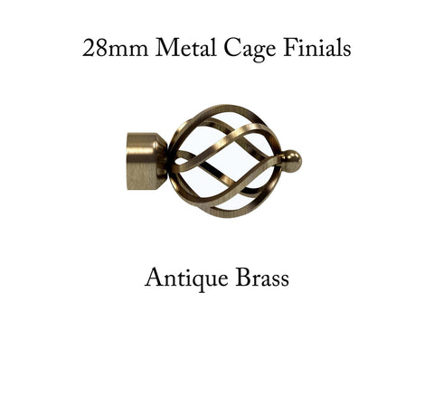 28mm Metal Cage Finials