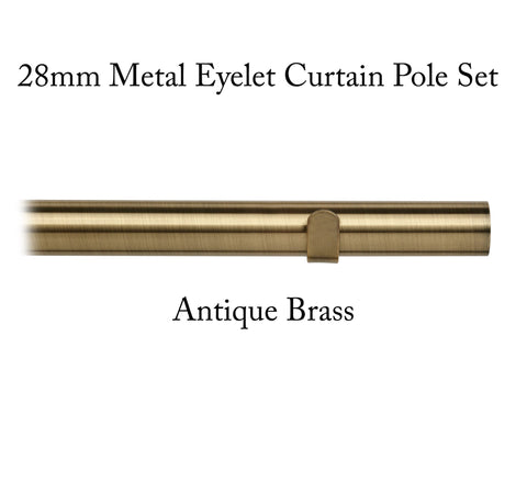 'Pick & Mix' 28mm Metal Eyelet Curtain Pole Sets