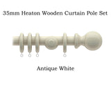 35mm Pakland Heaton Wooden Curtain Pole Sets SALE