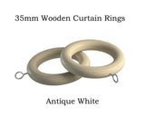 35mm Wooden Curtain Ring Packs SALE
