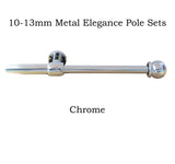 10-13mm Metal Complete Extendable Elegance Curtain Pole Set