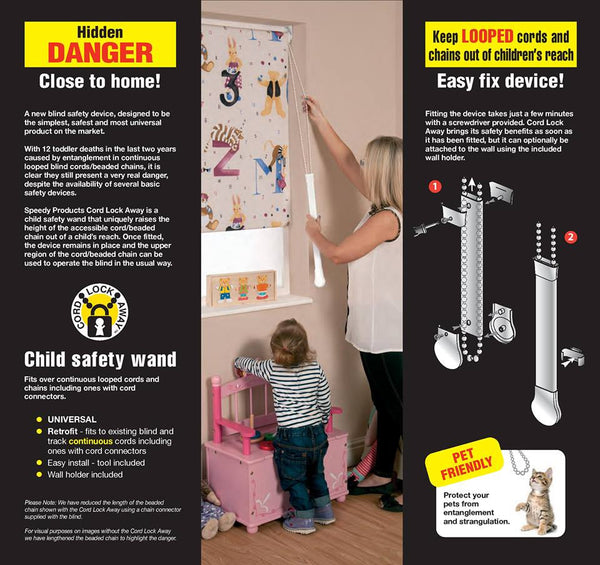 Child Safety Wand Cord Lock Away All You Need For Curtains