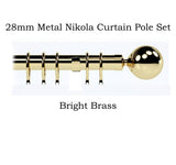 28mm Metal Complete Nikola Curtain Pole Sets