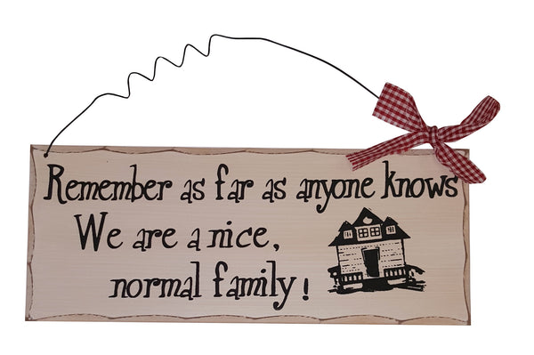 Vintage Style Humour Signs With Red Ribbon All You Need