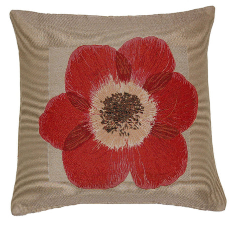 "18"" Poppy Cushion Cover"