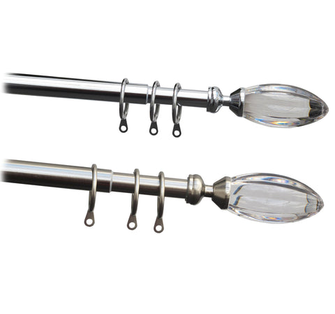 16-19mm Metal Complete Extendable Reflection Curtain Pole Set
