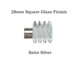 28mm Metal Square Glass Finials