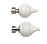 28mm Swirl Cream Finials