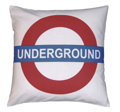 "18"" Underground Sign Cushion Cover"