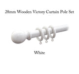 28mm Wooden Victory Curtain Pole Sets