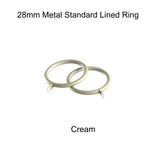 28mm Metal Lined Curtain Ring Packs