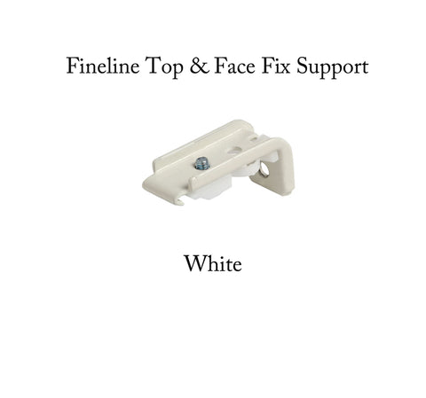 Fineline Curtain Track Top & Face Fix Supports