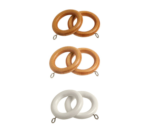 28mm Victory Wooden Curtain Rings