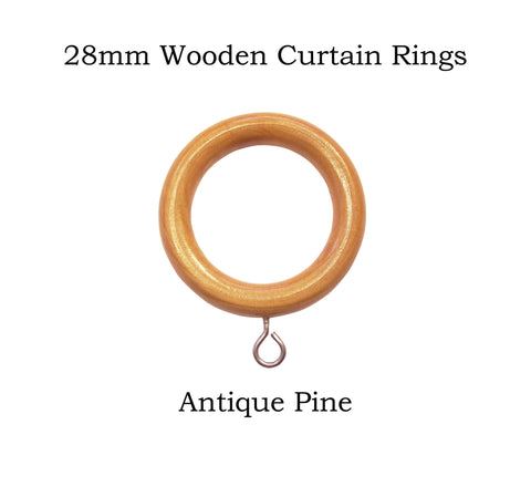 28mm Wooden Curtain Ring Packs