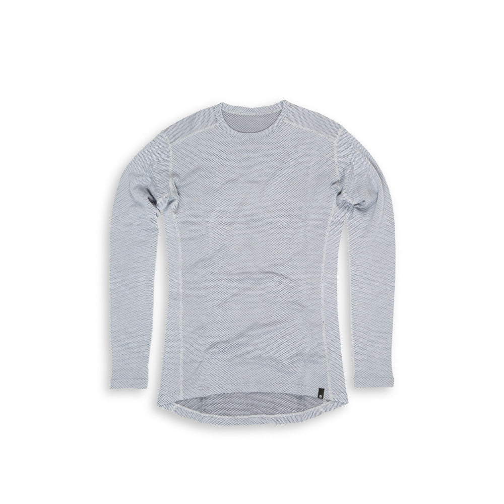 Beringia - Men's Diomede Merino Wool Long Sleeve Crew - Gray Heather