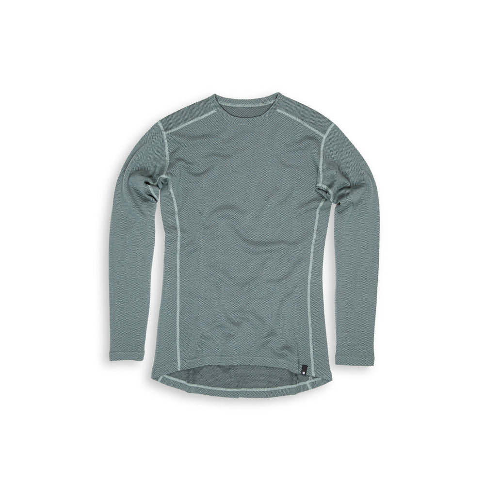 Beringia - Men's Diomede Merino Wool Long Sleeve Crew - Olive title=