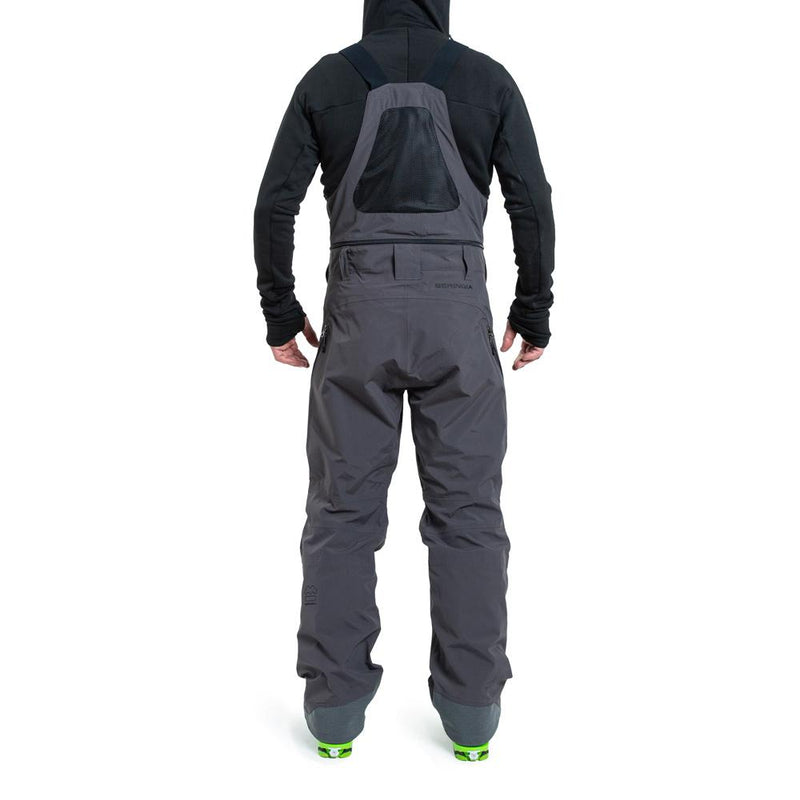 Beringia - Men's St. Elias Bib - Gunmetal Grey - Technical Outerwear, Ski Outerwear - Back Fit