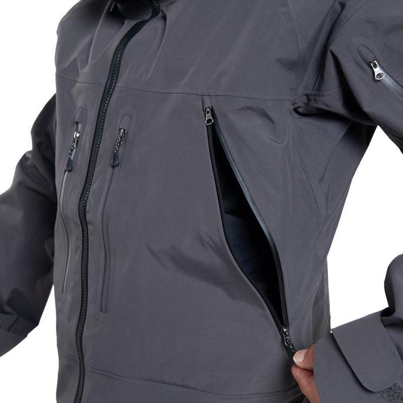 Beringia - Men's St. Elias Jacket - Gunmetal Grey - Side Vent Detail