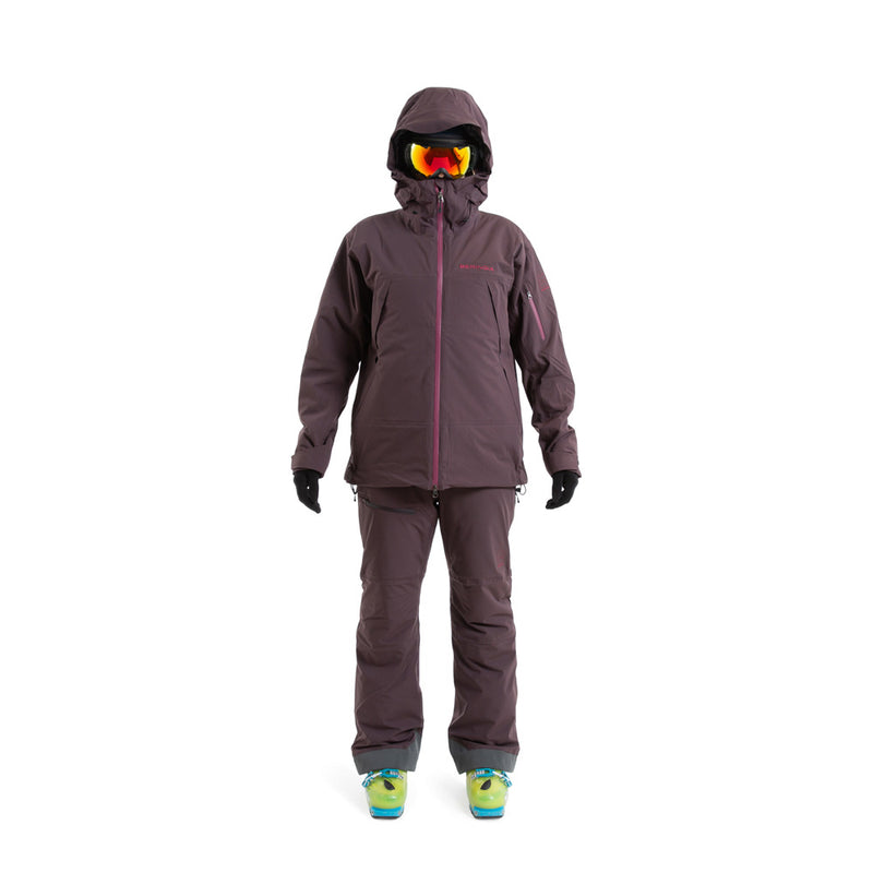 Beringia - Womens Ezo Insulated Jacket - Wine Red, fit outfit front