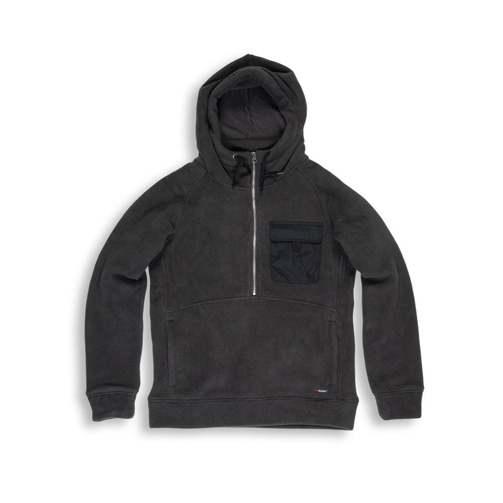Beringia - Denizen Fleece Hooded Anorak - Dark Shadow - Polartec 300 title=