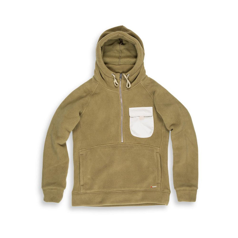 Beringia - Denizen Fleece Hooded Anorak - Khaki - Polartec 300
