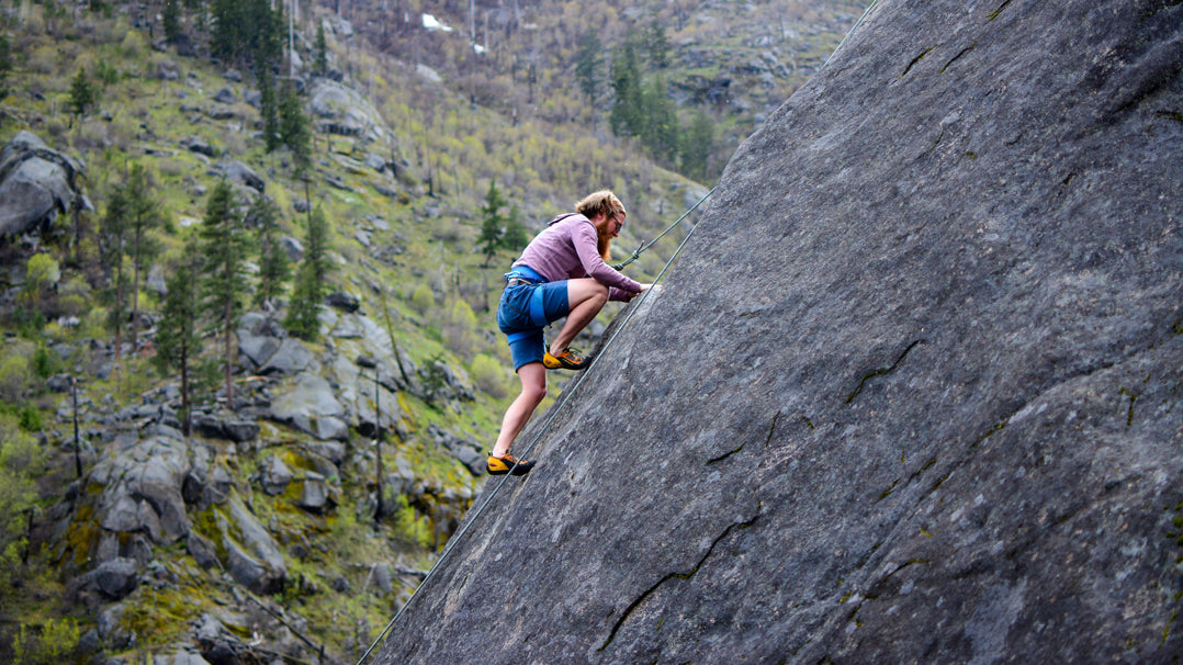 How to rock climb with a beard. Beard safety tips from Can You Handlebar