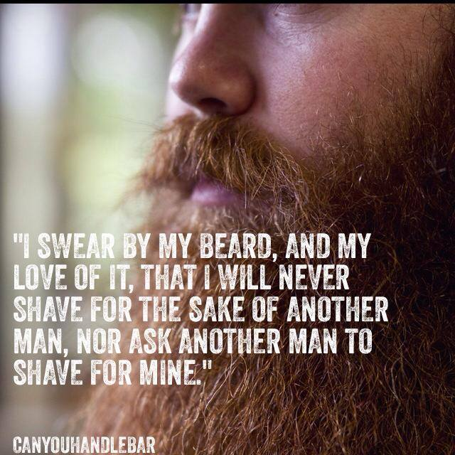 CanYouHandlebar I swear by my beard