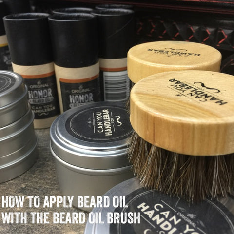 CanYouHandlebar Honor Beard Oil and Beard Oil Brush