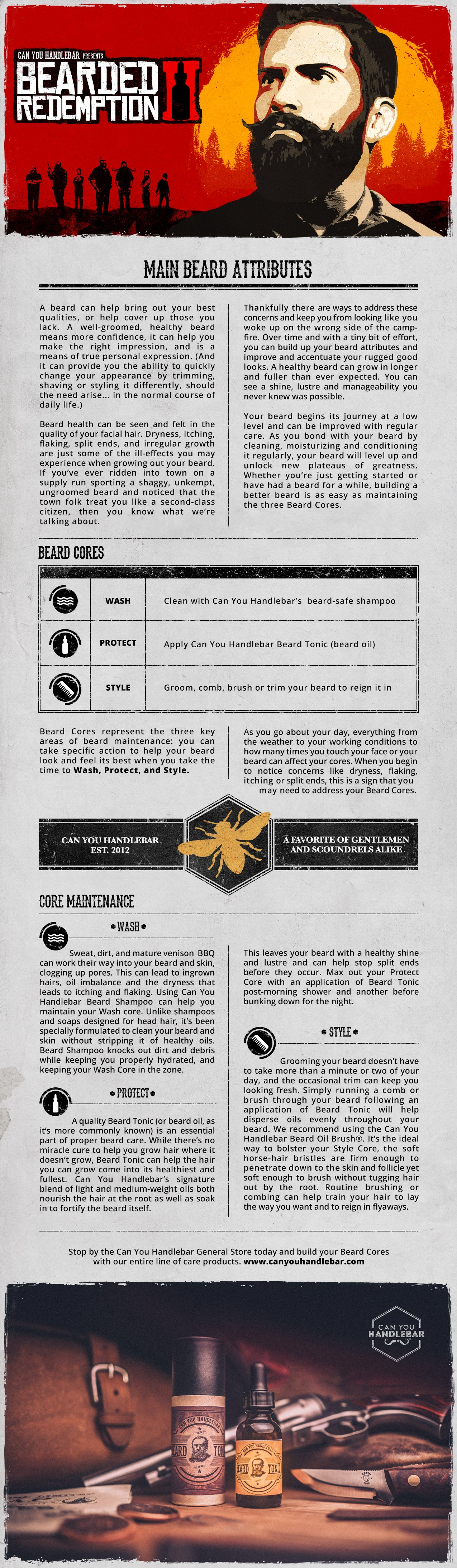 Bearded Redemption Strategy Guide Infographic