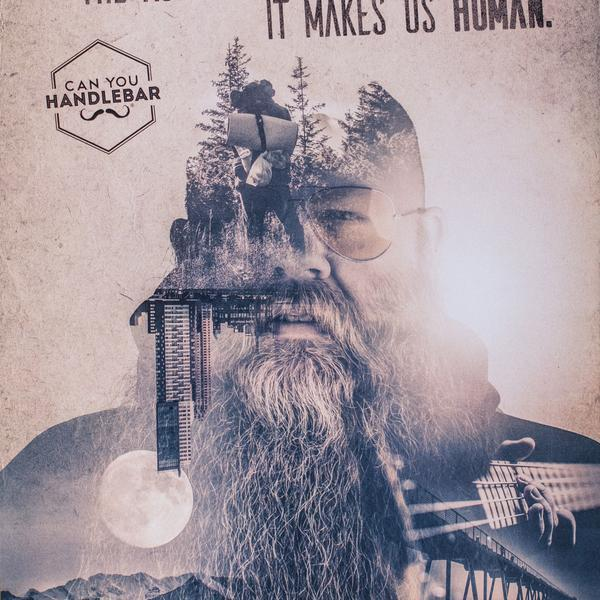 Can You Handlebar Philosophy Double Exposure Poster Bottom