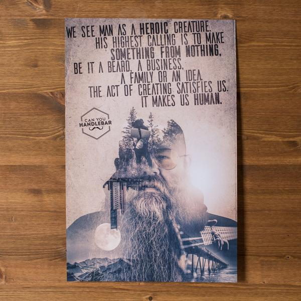 Can You Handlebar Philosophy Double Exposure Poster