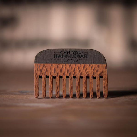 Handmade Wooden Comb Leopard Wood Front of Comb with Speckling