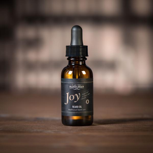 Joy Peppermint and Clary Sage Beard Oil Bottle