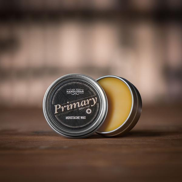 Primary Daily Hold Moustache Wax Open
