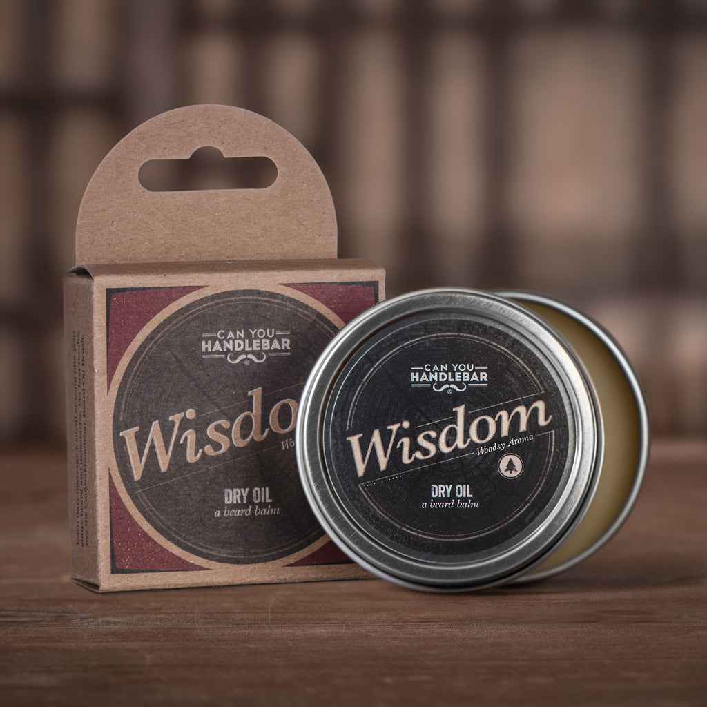 Wisdom - Bright and Woodsy Beard Balm – Can You Handlebar