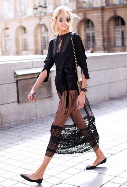 Style Me Love - 50 + Romantic Outfit Dresses To Look Gorgeous On Special Occasions Black Sheer Dress Street Style