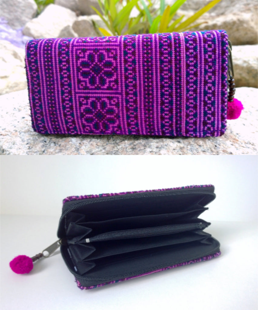 Purple Tribal Ethnic Wallet - Style Me Love
