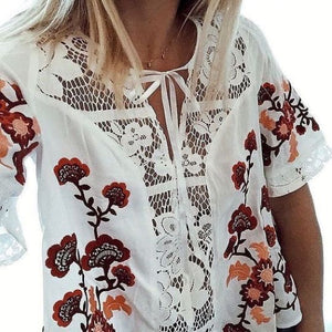 Desert Rose Embroidery Top - Style Me Love