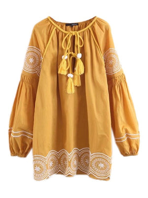 Ethnic Sun Dress - Style Me Love