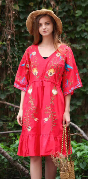 Nayo Embroidery Dress - Style Me Love