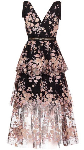 Crystal Flowery Dress - Style Me Love